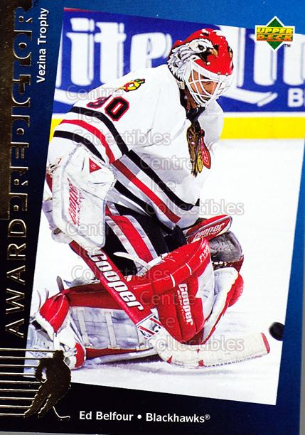 1994-95 Upper Deck Predictor Hobby Exchange Gold #27 Ed Belfour<br/>18 In Stock - $2.00 each - <a href=https://centericecollectibles.foxycart.com/cart?name=1994-95%20Upper%20Deck%20Predictor%20Hobby%20Exchange%20Gold%20%2327%20Ed%20Belfour...&price=$2.00&code=217669 class=foxycart> Buy it now! </a>