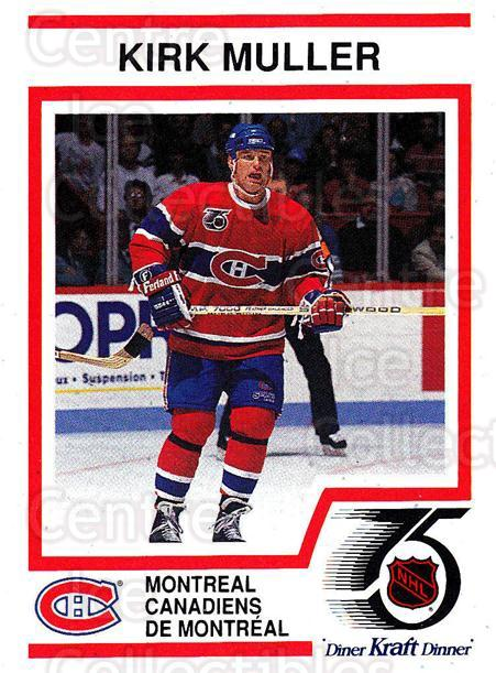 1991-92 Kraft ( Black Backs ) #12 Kirk Muller<br/>2 In Stock - $3.00 each - <a href=https://centericecollectibles.foxycart.com/cart?name=1991-92%20Kraft%20(%20Black%20Backs%20)%20%2312%20Kirk%20Muller...&quantity_max=2&price=$3.00&code=217708 class=foxycart> Buy it now! </a>