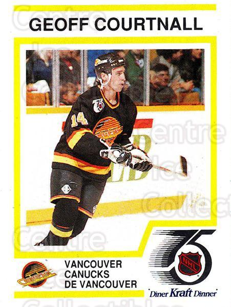 1991-92 Kraft ( Black Backs ) #15 Geoff Courtnall<br/>3 In Stock - $3.00 each - <a href=https://centericecollectibles.foxycart.com/cart?name=1991-92%20Kraft%20(%20Black%20Backs%20)%20%2315%20Geoff%20Courtnall...&quantity_max=3&price=$3.00&code=217711 class=foxycart> Buy it now! </a>