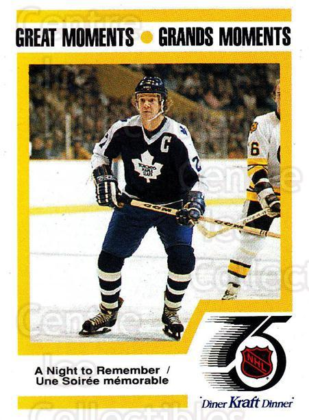 1991-92 Kraft ( Black Backs ) #40 Darryl Sittler<br/>1 In Stock - $3.00 each - <a href=https://centericecollectibles.foxycart.com/cart?name=1991-92%20Kraft%20(%20Black%20Backs%20)%20%2340%20Darryl%20Sittler...&quantity_max=1&price=$3.00&code=217736 class=foxycart> Buy it now! </a>