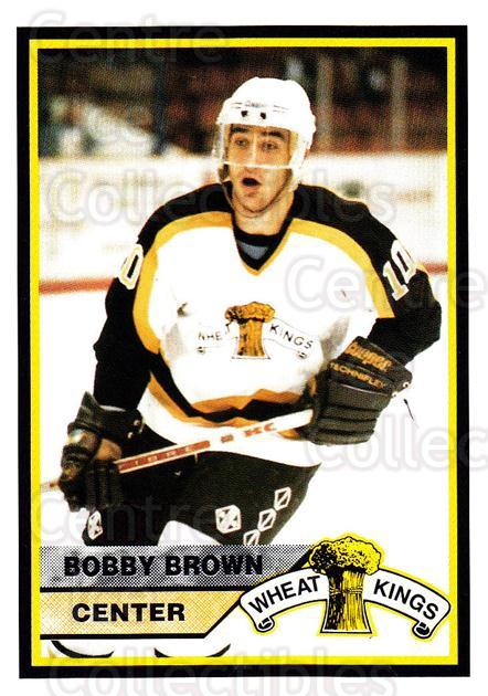 1994-95 Brandon Wheat Kings #20 Bobby Brown<br/>3 In Stock - $3.00 each - <a href=https://centericecollectibles.foxycart.com/cart?name=1994-95%20Brandon%20Wheat%20Kings%20%2320%20Bobby%20Brown...&quantity_max=3&price=$3.00&code=2177 class=foxycart> Buy it now! </a>