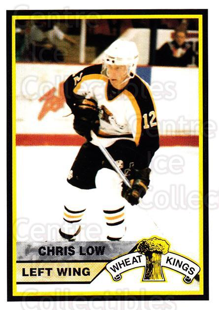 1994-95 Brandon Wheat Kings #4 Chris Low<br/>3 In Stock - $3.00 each - <a href=https://centericecollectibles.foxycart.com/cart?name=1994-95%20Brandon%20Wheat%20Kings%20%234%20Chris%20Low...&quantity_max=3&price=$3.00&code=2179 class=foxycart> Buy it now! </a>
