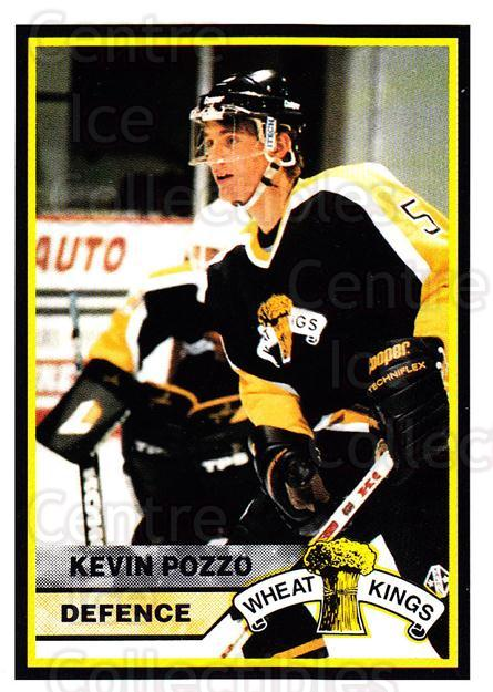 1994-95 Brandon Wheat Kings #5 Kevin Pozzo<br/>2 In Stock - $3.00 each - <a href=https://centericecollectibles.foxycart.com/cart?name=1994-95%20Brandon%20Wheat%20Kings%20%235%20Kevin%20Pozzo...&quantity_max=2&price=$3.00&code=2181 class=foxycart> Buy it now! </a>