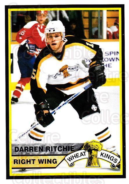 1994-95 Brandon Wheat Kings #11 Darren Ritchie<br/>2 In Stock - $3.00 each - <a href=https://centericecollectibles.foxycart.com/cart?name=1994-95%20Brandon%20Wheat%20Kings%20%2311%20Darren%20Ritchie...&quantity_max=2&price=$3.00&code=2183 class=foxycart> Buy it now! </a>