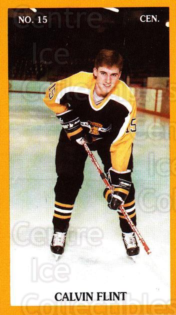 1989-90 Brandon Wheat Kings #13 Calvin Flint<br/>1 In Stock - $3.00 each - <a href=https://centericecollectibles.foxycart.com/cart?name=1989-90%20Brandon%20Wheat%20Kings%20%2313%20Calvin%20Flint...&quantity_max=1&price=$3.00&code=21875 class=foxycart> Buy it now! </a>