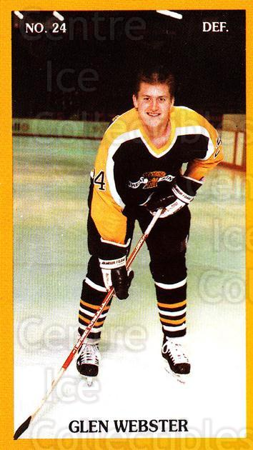 1989-90 Brandon Wheat Kings #14 Glen Webster<br/>3 In Stock - $3.00 each - <a href=https://centericecollectibles.foxycart.com/cart?name=1989-90%20Brandon%20Wheat%20Kings%20%2314%20Glen%20Webster...&quantity_max=3&price=$3.00&code=21876 class=foxycart> Buy it now! </a>