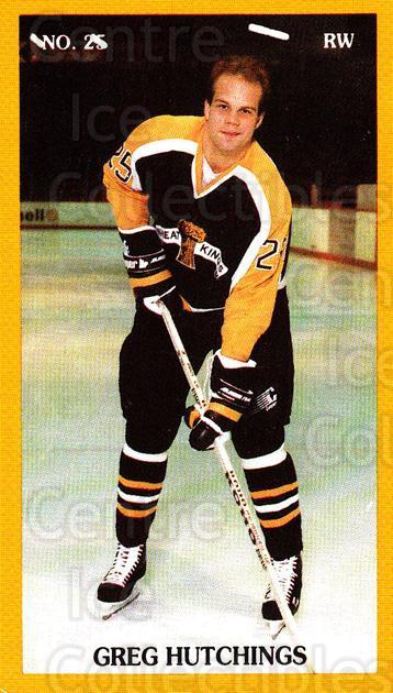 1989-90 Brandon Wheat Kings #15 Greg Hutchings<br/>3 In Stock - $3.00 each - <a href=https://centericecollectibles.foxycart.com/cart?name=1989-90%20Brandon%20Wheat%20Kings%20%2315%20Greg%20Hutchings...&quantity_max=3&price=$3.00&code=21877 class=foxycart> Buy it now! </a>