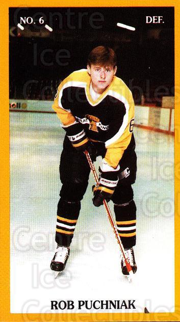 1989-90 Brandon Wheat Kings #16 Rob Puchniak<br/>1 In Stock - $3.00 each - <a href=https://centericecollectibles.foxycart.com/cart?name=1989-90%20Brandon%20Wheat%20Kings%20%2316%20Rob%20Puchniak...&quantity_max=1&price=$3.00&code=21878 class=foxycart> Buy it now! </a>
