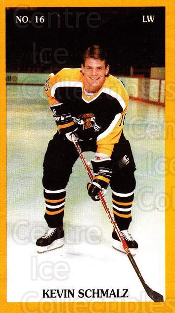 1989-90 Brandon Wheat Kings #18 Kevin Schmalz<br/>3 In Stock - $3.00 each - <a href=https://centericecollectibles.foxycart.com/cart?name=1989-90%20Brandon%20Wheat%20Kings%20%2318%20Kevin%20Schmalz...&quantity_max=3&price=$3.00&code=21880 class=foxycart> Buy it now! </a>