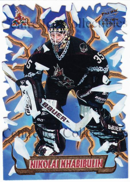 1997-98 Crown Royale Freeze Out Die-Cuts #15 Nikolai Khabibulin<br/>2 In Stock - $10.00 each - <a href=https://centericecollectibles.foxycart.com/cart?name=1997-98%20Crown%20Royale%20Freeze%20Out%20Die-Cuts%20%2315%20Nikolai%20Khabibu...&quantity_max=2&price=$10.00&code=218815 class=foxycart> Buy it now! </a>