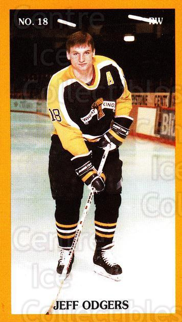 1989-90 Brandon Wheat Kings #20 Jeff Odgers<br/>1 In Stock - $3.00 each - <a href=https://centericecollectibles.foxycart.com/cart?name=1989-90%20Brandon%20Wheat%20Kings%20%2320%20Jeff%20Odgers...&quantity_max=1&price=$3.00&code=21883 class=foxycart> Buy it now! </a>