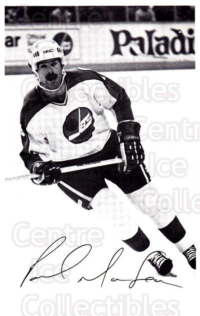 1981-82 Winnipeg Jets Postcards #12 Paul MacLean<br/>1 In Stock - $3.00 each - <a href=https://centericecollectibles.foxycart.com/cart?name=1981-82%20Winnipeg%20Jets%20Postcards%20%2312%20Paul%20MacLean...&quantity_max=1&price=$3.00&code=218896 class=foxycart> Buy it now! </a>