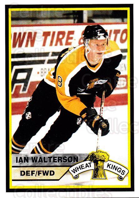 1994-95 Brandon Wheat Kings #16 Ian Walterson<br/>2 In Stock - $3.00 each - <a href=https://centericecollectibles.foxycart.com/cart?name=1994-95%20Brandon%20Wheat%20Kings%20%2316%20Ian%20Walterson...&quantity_max=2&price=$3.00&code=2188 class=foxycart> Buy it now! </a>