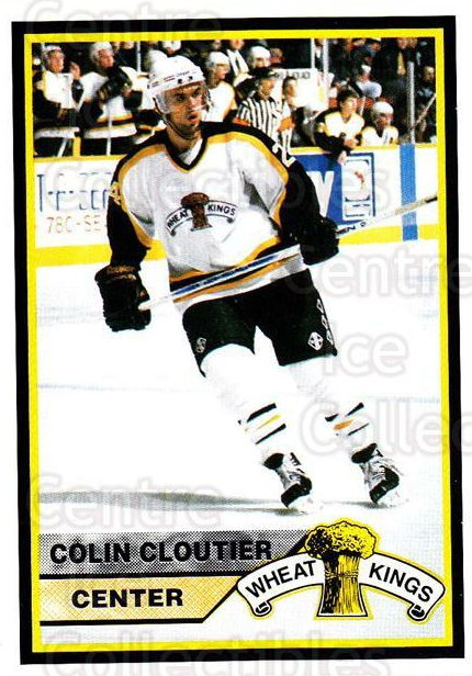 1994-95 Brandon Wheat Kings #17 Colin Cloutier<br/>3 In Stock - $3.00 each - <a href=https://centericecollectibles.foxycart.com/cart?name=1994-95%20Brandon%20Wheat%20Kings%20%2317%20Colin%20Cloutier...&quantity_max=3&price=$3.00&code=2189 class=foxycart> Buy it now! </a>