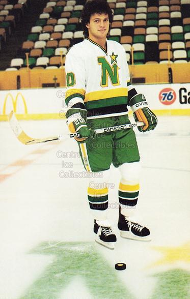 1983-84 Minnesota North Stars Postcards #6 Dino Ciccarelli<br/>4 In Stock - $3.00 each - <a href=https://centericecollectibles.foxycart.com/cart?name=1983-84%20Minnesota%20North%20Stars%20Postcards%20%236%20Dino%20Ciccarelli...&quantity_max=4&price=$3.00&code=219077 class=foxycart> Buy it now! </a>
