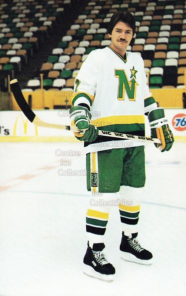 1983-84 Minnesota North Stars Postcards #8 George Ferguson<br/>5 In Stock - $3.00 each - <a href=https://centericecollectibles.foxycart.com/cart?name=1983-84%20Minnesota%20North%20Stars%20Postcards%20%238%20George%20Ferguson...&quantity_max=5&price=$3.00&code=219079 class=foxycart> Buy it now! </a>