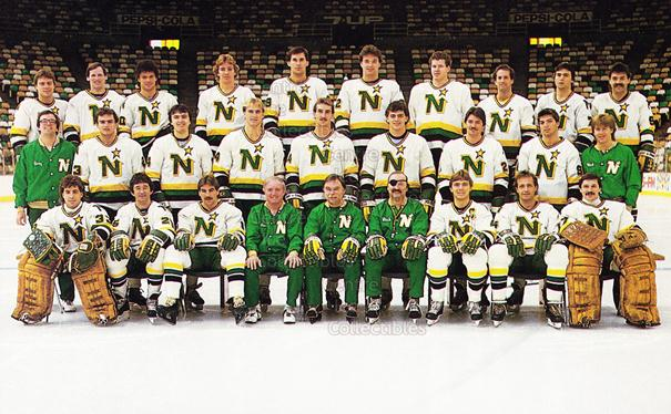 1983-84 Minnesota North Stars Postcards #27 Minnesota North Stars, Team Photo<br/>3 In Stock - $3.00 each - <a href=https://centericecollectibles.foxycart.com/cart?name=1983-84%20Minnesota%20North%20Stars%20Postcards%20%2327%20Minnesota%20North...&price=$3.00&code=219098 class=foxycart> Buy it now! </a>