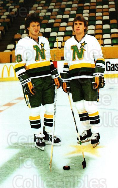 1982-83 Minnesota North Stars Postcards #6 Neal Broten, Dino Ciccarelli<br/>1 In Stock - $3.00 each - <a href=https://centericecollectibles.foxycart.com/cart?name=1982-83%20Minnesota%20North%20Stars%20Postcards%20%236%20Neal%20Broten,%20Di...&quantity_max=1&price=$3.00&code=219101 class=foxycart> Buy it now! </a>