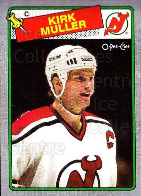 1988-89 O-Pee-Chee Box Bottoms #F Kirk Muller<br/>1 In Stock - $3.00 each - <a href=https://centericecollectibles.foxycart.com/cart?name=1988-89%20O-Pee-Chee%20Box%20Bottoms%20%23F%20Kirk%20Muller...&quantity_max=1&price=$3.00&code=21934 class=foxycart> Buy it now! </a>