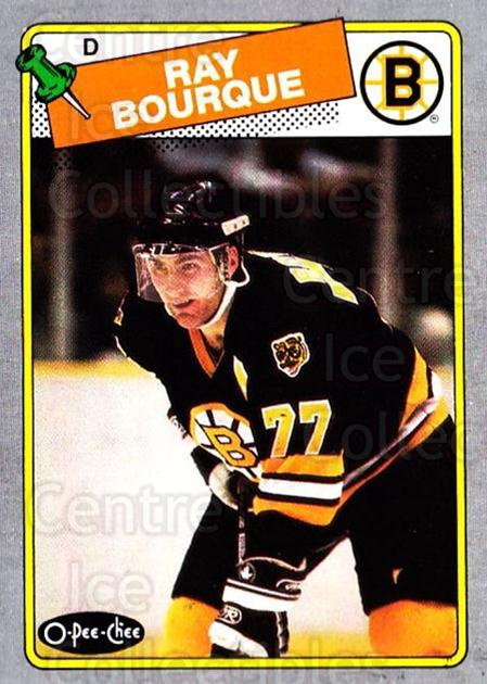1988-89 O-Pee-Chee Box Bottoms #I Ray Bourque<br/>2 In Stock - $5.00 each - <a href=https://centericecollectibles.foxycart.com/cart?name=1988-89%20O-Pee-Chee%20Box%20Bottoms%20%23I%20Ray%20Bourque...&quantity_max=2&price=$5.00&code=21937 class=foxycart> Buy it now! </a>