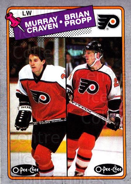 1988-89 O-Pee-Chee Box Bottoms #J Murray Craven, Brian Propp<br/>2 In Stock - $3.00 each - <a href=https://centericecollectibles.foxycart.com/cart?name=1988-89%20O-Pee-Chee%20Box%20Bottoms%20%23J%20Murray%20Craven,%20...&quantity_max=2&price=$3.00&code=21938 class=foxycart> Buy it now! </a>