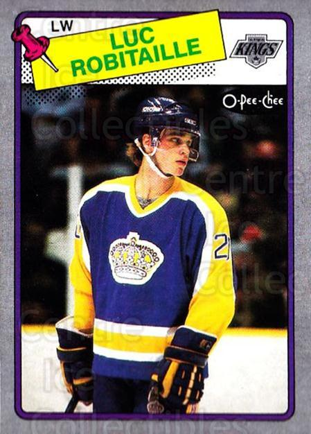1988-89 O-Pee-Chee Box Bottoms #P Luc Robitaille<br/>1 In Stock - $5.00 each - <a href=https://centericecollectibles.foxycart.com/cart?name=1988-89%20O-Pee-Chee%20Box%20Bottoms%20%23P%20Luc%20Robitaille...&quantity_max=1&price=$5.00&code=21943 class=foxycart> Buy it now! </a>