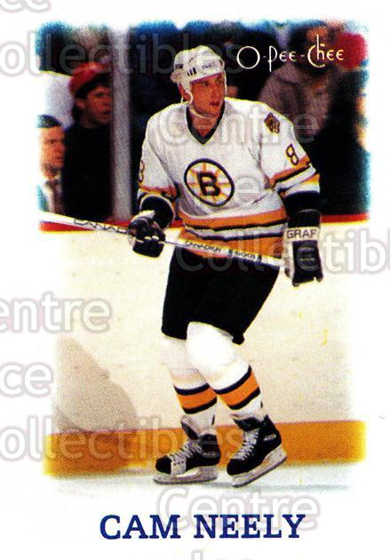 1988-89 O-Pee-Chee Minis #27 Cam Neely<br/>8 In Stock - $1.00 each - <a href=https://centericecollectibles.foxycart.com/cart?name=1988-89%20O-Pee-Chee%20Minis%20%2327%20Cam%20Neely...&quantity_max=8&price=$1.00&code=21960 class=foxycart> Buy it now! </a>