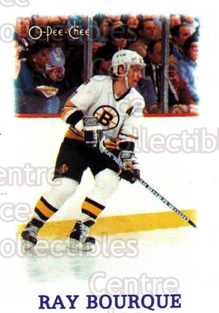 1988-89 O-Pee-Chee Minis #3 Ray Bourque<br/>8 In Stock - $2.00 each - <a href=https://centericecollectibles.foxycart.com/cart?name=1988-89%20O-Pee-Chee%20Minis%20%233%20Ray%20Bourque...&quantity_max=8&price=$2.00&code=21963 class=foxycart> Buy it now! </a>