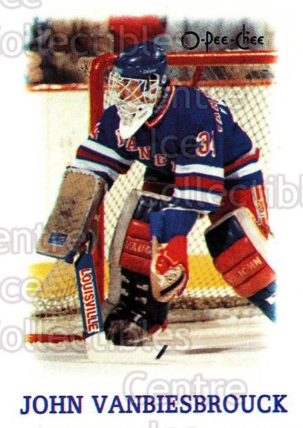 1988-89 O-Pee-Chee Minis #42 John Vanbiesbrouck<br/>7 In Stock - $1.00 each - <a href=https://centericecollectibles.foxycart.com/cart?name=1988-89%20O-Pee-Chee%20Minis%20%2342%20John%20Vanbiesbro...&quantity_max=7&price=$1.00&code=21976 class=foxycart> Buy it now! </a>