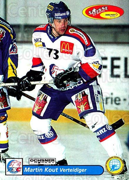 2001-02 Swiss Ice Hockey Cards #5 Martin Kout<br/>3 In Stock - $2.00 each - <a href=https://centericecollectibles.foxycart.com/cart?name=2001-02%20Swiss%20Ice%20Hockey%20Cards%20%235%20Martin%20Kout...&quantity_max=3&price=$2.00&code=220550 class=foxycart> Buy it now! </a>
