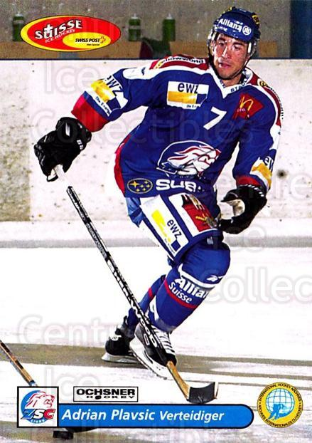 2001-02 Swiss Ice Hockey Cards #6 Adrien Plavsic<br/>1 In Stock - $2.00 each - <a href=https://centericecollectibles.foxycart.com/cart?name=2001-02%20Swiss%20Ice%20Hockey%20Cards%20%236%20Adrien%20Plavsic...&quantity_max=1&price=$2.00&code=220551 class=foxycart> Buy it now! </a>