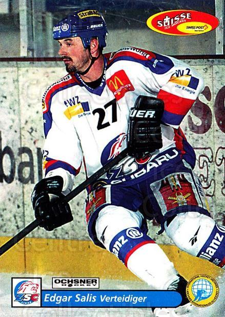 2001-02 Swiss Ice Hockey Cards #8 Edgar Salis<br/>2 In Stock - $2.00 each - <a href=https://centericecollectibles.foxycart.com/cart?name=2001-02%20Swiss%20Ice%20Hockey%20Cards%20%238%20Edgar%20Salis...&quantity_max=2&price=$2.00&code=220553 class=foxycart> Buy it now! </a>