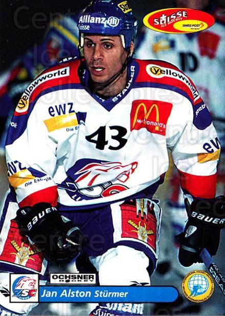 2001-02 Swiss Ice Hockey Cards #12 Jan Alston<br/>3 In Stock - $2.00 each - <a href=https://centericecollectibles.foxycart.com/cart?name=2001-02%20Swiss%20Ice%20Hockey%20Cards%20%2312%20Jan%20Alston...&quantity_max=3&price=$2.00&code=220557 class=foxycart> Buy it now! </a>