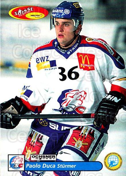 2001-02 Swiss Ice Hockey Cards #16 Paolo Duca<br/>2 In Stock - $2.00 each - <a href=https://centericecollectibles.foxycart.com/cart?name=2001-02%20Swiss%20Ice%20Hockey%20Cards%20%2316%20Paolo%20Duca...&quantity_max=2&price=$2.00&code=220561 class=foxycart> Buy it now! </a>