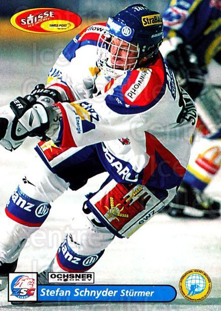 2001-02 Swiss Ice Hockey Cards #22 Stefan Schnyder<br/>2 In Stock - $2.00 each - <a href=https://centericecollectibles.foxycart.com/cart?name=2001-02%20Swiss%20Ice%20Hockey%20Cards%20%2322%20Stefan%20Schnyder...&quantity_max=2&price=$2.00&code=220567 class=foxycart> Buy it now! </a>