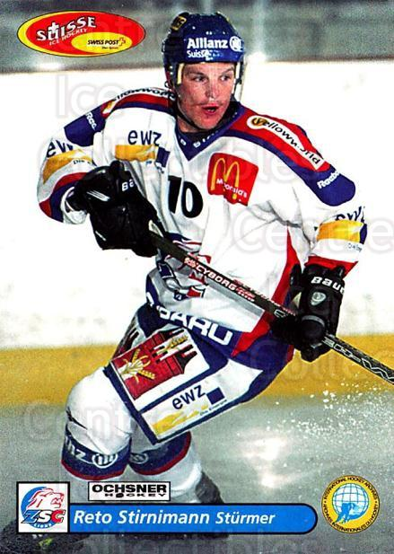 2001-02 Swiss Ice Hockey Cards #23 Reto Stirnimann<br/>2 In Stock - $2.00 each - <a href=https://centericecollectibles.foxycart.com/cart?name=2001-02%20Swiss%20Ice%20Hockey%20Cards%20%2323%20Reto%20Stirnimann...&quantity_max=2&price=$2.00&code=220568 class=foxycart> Buy it now! </a>