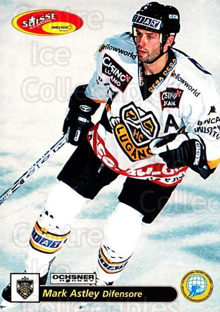 2001-02 Swiss Ice Hockey Cards #30 Mark Astley<br/>1 In Stock - $2.00 each - <a href=https://centericecollectibles.foxycart.com/cart?name=2001-02%20Swiss%20Ice%20Hockey%20Cards%20%2330%20Mark%20Astley...&quantity_max=1&price=$2.00&code=220575 class=foxycart> Buy it now! </a>