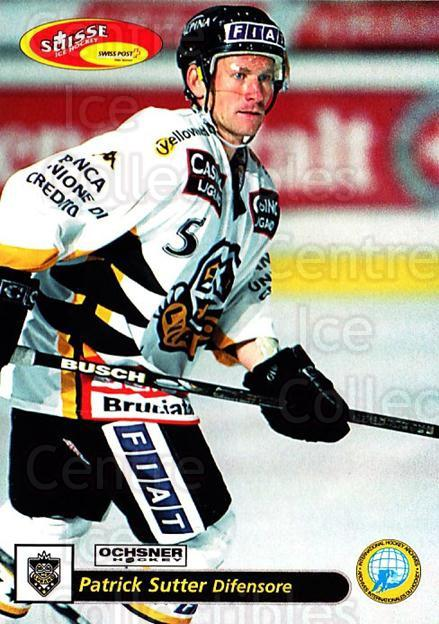 2001-02 Swiss Ice Hockey Cards #34 Patrick Sutter<br/>3 In Stock - $2.00 each - <a href=https://centericecollectibles.foxycart.com/cart?name=2001-02%20Swiss%20Ice%20Hockey%20Cards%20%2334%20Patrick%20Sutter...&quantity_max=3&price=$2.00&code=220579 class=foxycart> Buy it now! </a>