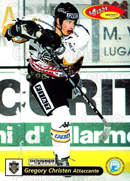 2001-02 Swiss Ice Hockey Cards #39 Gregory Christen<br/>2 In Stock - $2.00 each - <a href=https://centericecollectibles.foxycart.com/cart?name=2001-02%20Swiss%20Ice%20Hockey%20Cards%20%2339%20Gregory%20Christe...&quantity_max=2&price=$2.00&code=220584 class=foxycart> Buy it now! </a>