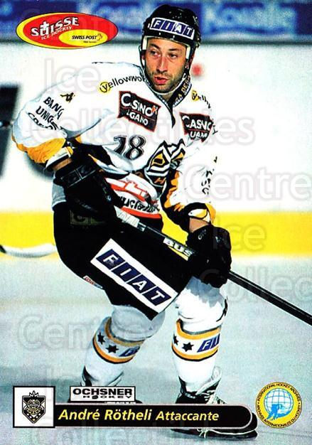 2001-02 Swiss Ice Hockey Cards #48 Andre Rotheli<br/>2 In Stock - $2.00 each - <a href=https://centericecollectibles.foxycart.com/cart?name=2001-02%20Swiss%20Ice%20Hockey%20Cards%20%2348%20Andre%20Rotheli...&quantity_max=2&price=$2.00&code=220593 class=foxycart> Buy it now! </a>