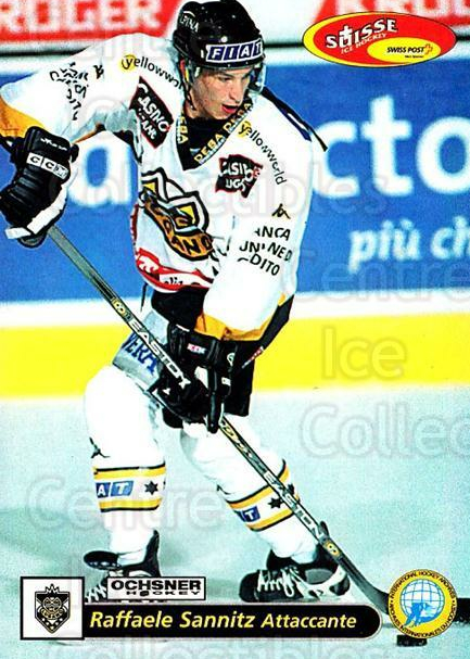 2001-02 Swiss Ice Hockey Cards #49 Raffaele Sannitz<br/>2 In Stock - $2.00 each - <a href=https://centericecollectibles.foxycart.com/cart?name=2001-02%20Swiss%20Ice%20Hockey%20Cards%20%2349%20Raffaele%20Sannit...&quantity_max=2&price=$2.00&code=220594 class=foxycart> Buy it now! </a>