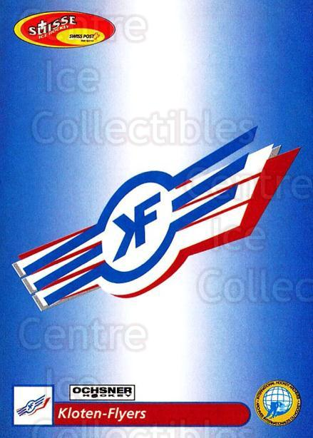 2001-02 Swiss Ice Hockey Cards #51 Kloten<br/>2 In Stock - $2.00 each - <a href=https://centericecollectibles.foxycart.com/cart?name=2001-02%20Swiss%20Ice%20Hockey%20Cards%20%2351%20Kloten...&quantity_max=2&price=$2.00&code=220596 class=foxycart> Buy it now! </a>