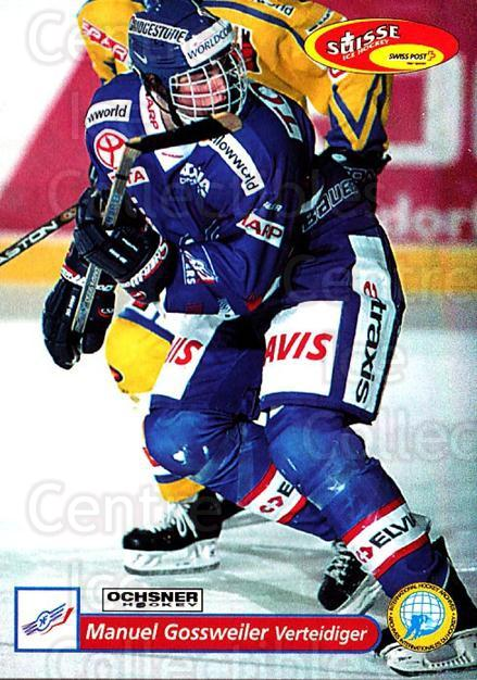 2001-02 Swiss Ice Hockey Cards #56 Manuel Gossweiler<br/>2 In Stock - $2.00 each - <a href=https://centericecollectibles.foxycart.com/cart?name=2001-02%20Swiss%20Ice%20Hockey%20Cards%20%2356%20Manuel%20Gossweil...&quantity_max=2&price=$2.00&code=220601 class=foxycart> Buy it now! </a>
