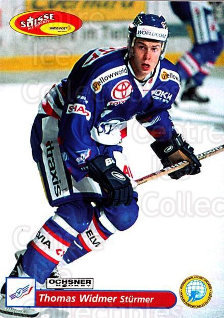 2001-02 Swiss Ice Hockey Cards #76 Thomas Widmer<br/>2 In Stock - $2.00 each - <a href=https://centericecollectibles.foxycart.com/cart?name=2001-02%20Swiss%20Ice%20Hockey%20Cards%20%2376%20Thomas%20Widmer...&quantity_max=2&price=$2.00&code=220621 class=foxycart> Buy it now! </a>