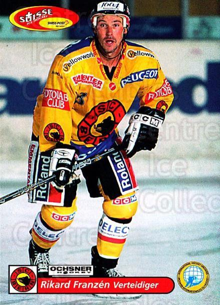 2001-02 Swiss Ice Hockey Cards #81 Rikard Franzen<br/>1 In Stock - $2.00 each - <a href=https://centericecollectibles.foxycart.com/cart?name=2001-02%20Swiss%20Ice%20Hockey%20Cards%20%2381%20Rikard%20Franzen...&quantity_max=1&price=$2.00&code=220626 class=foxycart> Buy it now! </a>