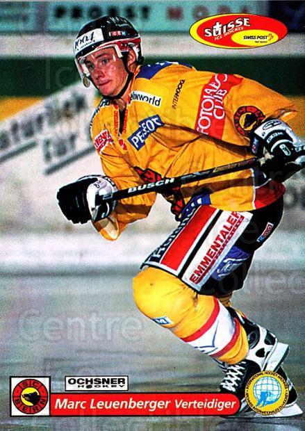 2001-02 Swiss Ice Hockey Cards #84 Marc Leuenberger<br/>3 In Stock - $2.00 each - <a href=https://centericecollectibles.foxycart.com/cart?name=2001-02%20Swiss%20Ice%20Hockey%20Cards%20%2384%20Marc%20Leuenberge...&quantity_max=3&price=$2.00&code=220629 class=foxycart> Buy it now! </a>