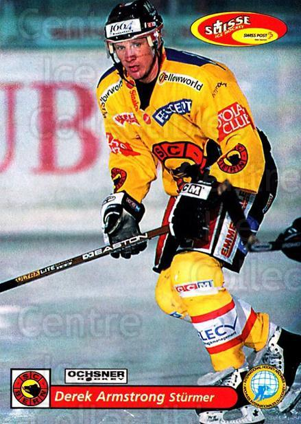 2001-02 Swiss Ice Hockey Cards #88 Derek Armstrong<br/>1 In Stock - $2.00 each - <a href=https://centericecollectibles.foxycart.com/cart?name=2001-02%20Swiss%20Ice%20Hockey%20Cards%20%2388%20Derek%20Armstrong...&quantity_max=1&price=$2.00&code=220633 class=foxycart> Buy it now! </a>