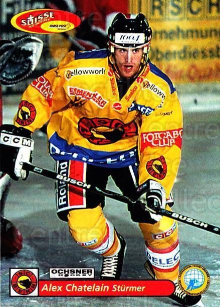 2001-02 Swiss Ice Hockey Cards #90 Alex Chatelain<br/>2 In Stock - $2.00 each - <a href=https://centericecollectibles.foxycart.com/cart?name=2001-02%20Swiss%20Ice%20Hockey%20Cards%20%2390%20Alex%20Chatelain...&quantity_max=2&price=$2.00&code=220635 class=foxycart> Buy it now! </a>