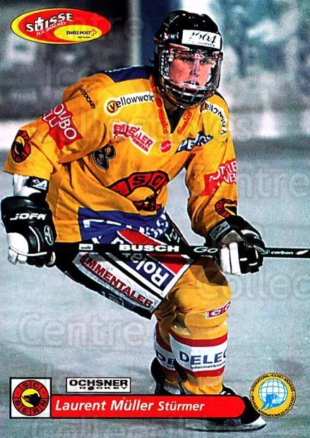 2001-02 Swiss Ice Hockey Cards #93 Laurent Muller<br/>2 In Stock - $2.00 each - <a href=https://centericecollectibles.foxycart.com/cart?name=2001-02%20Swiss%20Ice%20Hockey%20Cards%20%2393%20Laurent%20Muller...&quantity_max=2&price=$2.00&code=220638 class=foxycart> Buy it now! </a>
