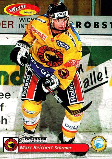 2001-02 Swiss Ice Hockey Cards #95 Marc Reichert<br/>2 In Stock - $2.00 each - <a href=https://centericecollectibles.foxycart.com/cart?name=2001-02%20Swiss%20Ice%20Hockey%20Cards%20%2395%20Marc%20Reichert...&quantity_max=2&price=$2.00&code=220640 class=foxycart> Buy it now! </a>